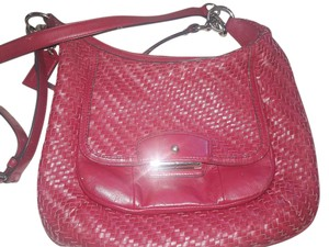 Coach Kristen Leather Red Excellent Condition Messenger Hobo Bag