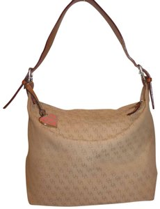 Dooney & Bourke Refurbished Beigh. Monogram Jacquard Hobo Bag