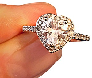 Other Stamped 925 Sterling Silver Heart CZ engagement/promise ring