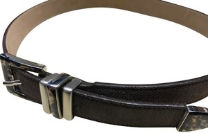Streets Ahead Streets Ahead Brown Leather Belt Tortoise