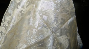 Ivory Table Cloth/ Paisley