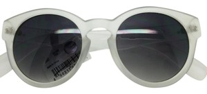 Aerie Aerie, Women, Round Wayfarers, Frosted Clear Frame, Sunglasses