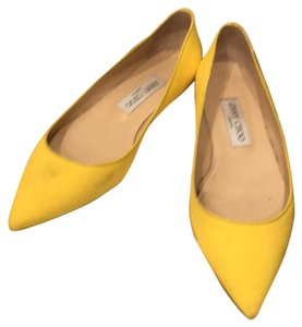 Jimmy Choo yellow Flats