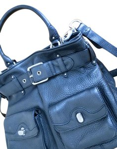 Cole Haan Pockets Silver Hardwa Adjustable Strap Detachable Strap Magnetic Snap Tote in Black