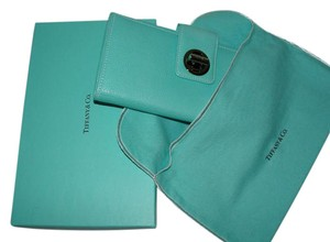 Tiffany & Co. Tiffany Co Long Wallet Blue with Box and Dust Bag