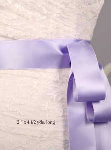 Iris Purple Ribbon Sash 2