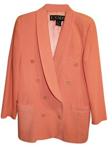 Escada Vintage Double Breasted Peach Blazer