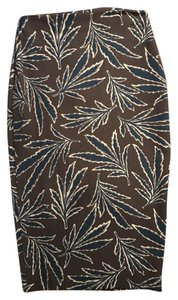 Elizabeth and James Pencil Skirt Leaf print