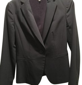 Ann Taylor navy blue pinstripe skirt suit