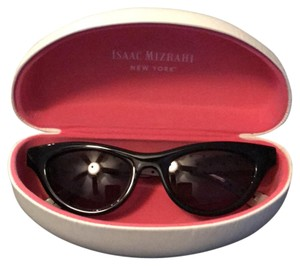 Isaac Mizrahi cute black and poka dot sunglasses.