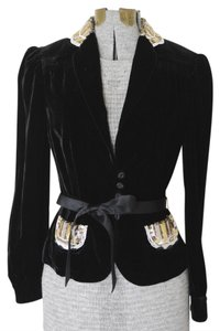 Marc by Marc Jacobs Velvet Sequin Velvet Black Jacket