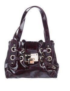 Jimmy Choo Riki Patent Leather Shoulder Bag