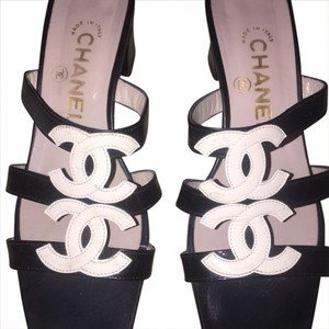 Chanel patent black Sandals
