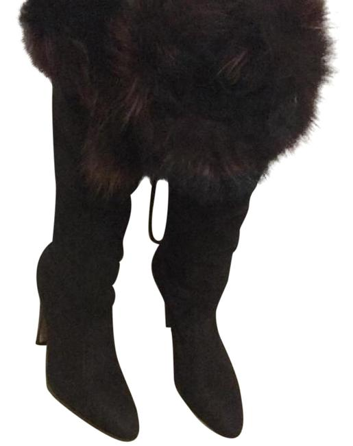Item - Dark Brown Brand New/Unworn Shearling-lined Suede Tall Boots/Booties Size EU 37 (Approx. US 7) Narrow (Aa, N)