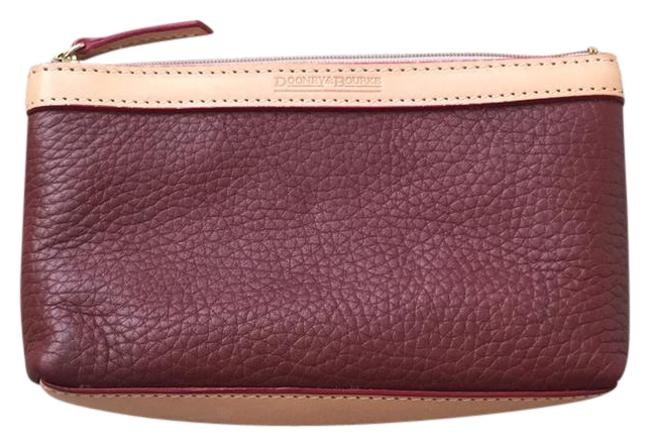 Item - Pouch Maroon Leather Wristlet