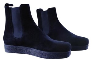 Barneys New York Chelsea Leather Black Boots