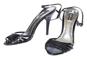 Style & Co & Co. Leather Ankle Strap Black Sandals