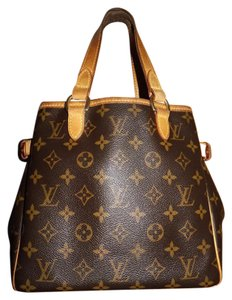 Louis Vuitton Batignolles Canvas Brown Shoulder Bag