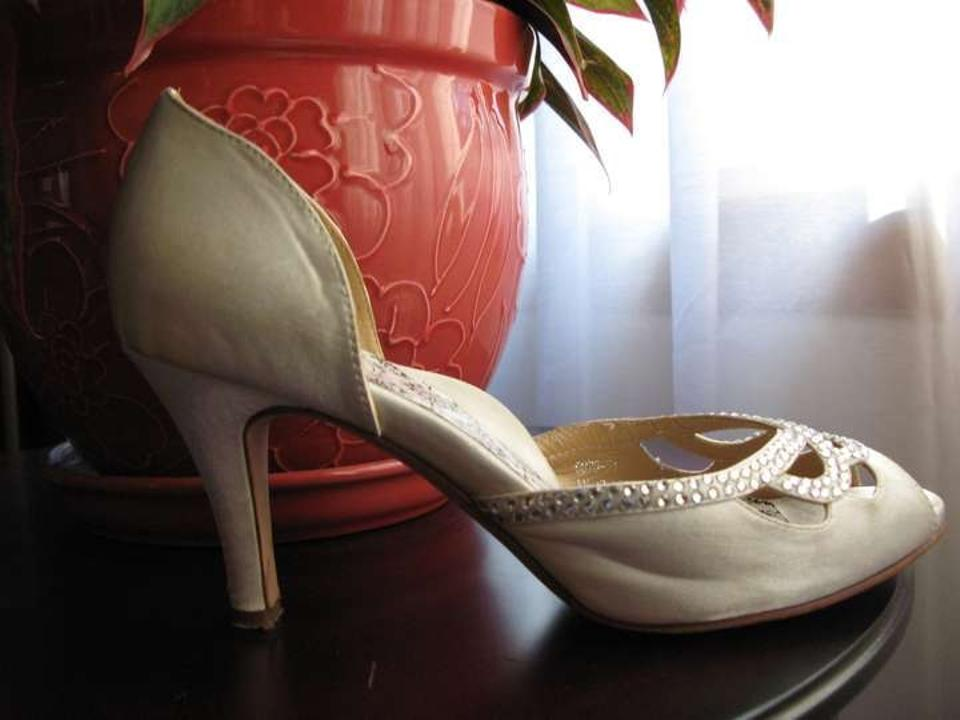 Lady Formal Crystals D'orsay Hey Knotty Bridal Girl White Comfortable R7xwY8SqdY