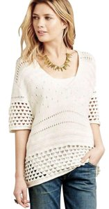 Anthropologie Super Oversized Soft Comfy Crochet Cotton Oversized Sweater