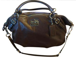 Coach Madison Leather 15955 Satchel in Brown