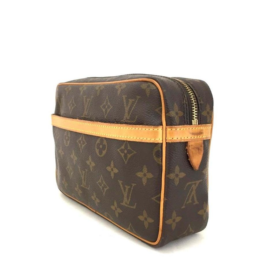 6ae9a86d71e9 Louis Vuitton Compiegne Monogram 23 Clutch Gm Luxury Hand Toiletry Brown Leather  Weekend Travel Bag - Tradesy
