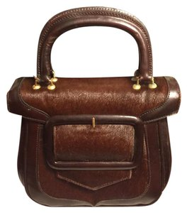 Tano Satchel in Dark/Light Brown/Black Interior
