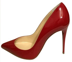 Christian Louboutin Stiletto Pigalle Follies Patent Red Pumps