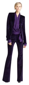 Rachel Zoe Hutton tuxedo purple velvet suit