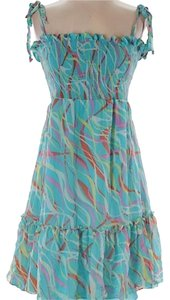 BCBGMAXAZRIA short dress blue yellow red on Tradesy