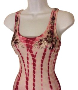 Raviya short dress Burgandy and pink Tie Dye Tank Top Tie Dye Summer Beach Wear on Tradesy