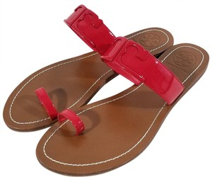 Tory Burch Red Patent Sandals