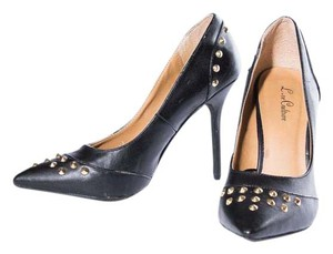 Love Culture Studded Black Pumps