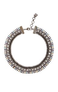 BCBGMAXAZRIA BCBG MaxAzria Corded Stone Necklace Chambray