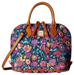 Dooney & Bourke Marabelle Leather Satchel in Multi Black