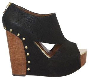 Chinese Laundry Cutaway Cutout Black Wedges