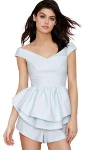 Other Cameo Peplum Off The Ice Top Blue