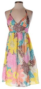 MILLY short dress pink blue yellow brown on Tradesy