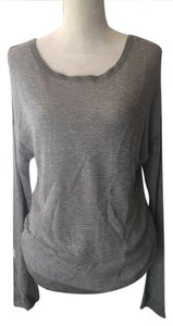 Rag & Bone Perforated & Jean Thin Knit Sweater
