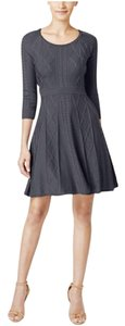 Calvin Klein short dress grey Classic Sweater Plus-size Comfortable on Tradesy