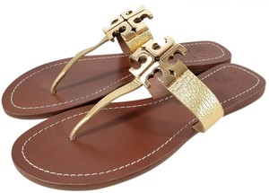 Tory Burch Gold Metallic Sandals