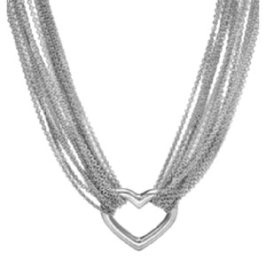 Tiffany & Co. silver mesh heart choker necklace