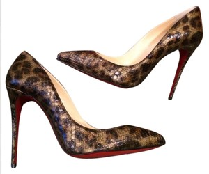 Christian Louboutin Stiletto Pigalle Follies Python Leopard Pumps