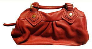 Marc by Marc Jacobs Leather Convertible Satchel in Bright Persimmon (Orange)
