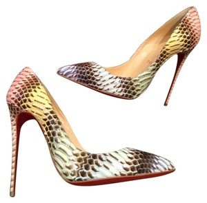 Christian Louboutin Stiletto Pigalle Follies Watersnake Multi Pumps