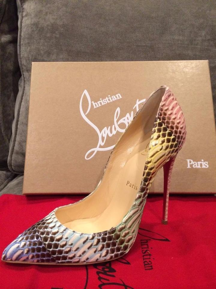 Christian Pigalle Louboutin Degrade Watersnake Multicolor Pumps Follies 120 rErcdZzqw