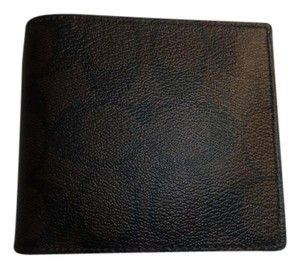 Coach Coach Signature Coin Wallet in Mahogany Brown Billfold F75006