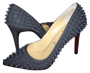 Christian Louboutin Stiletto Pigalle Follies Grey Pumps