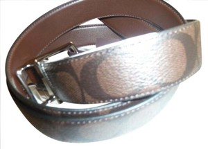 Coach Coach Men's Reversible Signature Belt Mahogany/Brown Leather F64825
