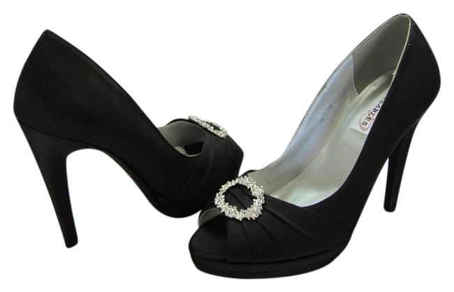 Dyeables Black M Satin Rhinestones Very Good Condition Pumps Size US 8 Regular (M, B) Dyeables Black M Satin Rhinestones Very Good Condition Pumps Size US 8 Regular (M, B) Image 1